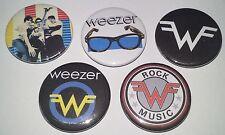 5 Weezer button badges Red Album Blue Green Pinkereton Rivers Suzanne Nerd Rock