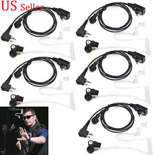 5 pcs Surveillance Kit Tube Headset Earpieces For Motorola Portable radio