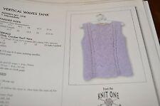 "Knit One Crochet Too Knitting Pattern Vertical Waves Tank 33-51"""