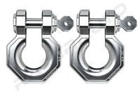"2pcs 3/4"" Silver Large 5.0 Ton Aluminum D-Ring Bow Anchor Shackle Heavy Duty"