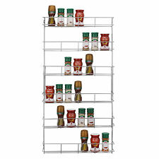 6 Tier Spice Sauce Rack Jar / Bottle Storage Shelf for Kitchen Cupboard Door