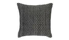 Home Global Diamond Cushion - Black Its Geometric Black And White Diamond Design