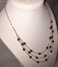 """Raw Garnet Necklace 16"""" 14k Gold Filled"""
