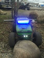 RC Scale Accessories All Metal BRILLIANT BLUE LIGHT Bar Crawler SCX10 TF2 Rc4wd