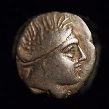 340-330 BC ANCIENT GREEK SILVER EUBOIA TETROBOL COIN HISTIAIA