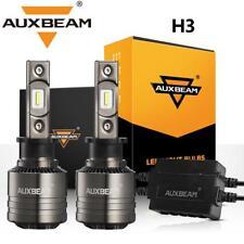 AUXBEAM T1 SERIES H3 LED Headlight Canbus Decoder Bulbs 70W 8000LM 6500K Fog Kit