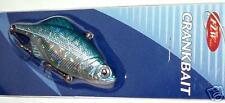 FLW CRANKBAIT LIPPLESS LURE 6.5cm BLUE SILVER, TACKLE