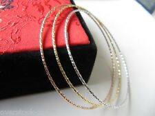FINE 3PCS Solid 18K Gold Bangle Size: 60mm / 4.50g Au750