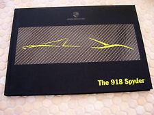 PORSCHE 918 SPYDER HYBRID SUPERCAR PRESTIGE SALES BROCHURE USA EDITION 2013-14