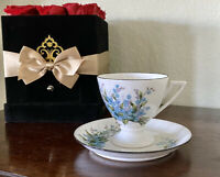 Hutschenreuther Selb Bavaria Germany Tea Cup And Saucer Set - Floral Handpainted