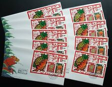 Singapore 1996 Rat Year MS Canada CAPEX '96 Stamp Exhibition Souvenir Covers FDC
