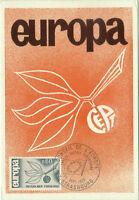 CARTE MAXIMUM 1er JOUR - EUROPA 1965 N° 1456 - STRASBOURG