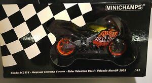 HONDA RC211V REPSOL HONDA TEAM V.ROSSI VALENCIA MOTO GP 2003 MINICHAMPS 1/12