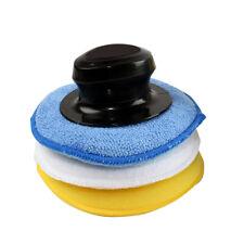 3 piezas de cera de coche Polaco Aplicador Almohadillas con mango de espuma/algodón/microfibra almohadilla