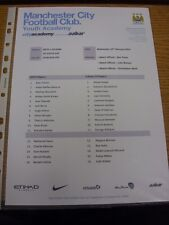 19/02/2014 Manchester City Youth v Fulham Youth [FA Youth Cup] (single sheet). T