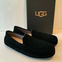 Men's UGG Loafer Slippers Alder Black Size UK 8 Suede New Boxed