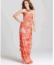 Nwt BCBG maxazria Erika maxi tiered strapless prom gown dress 0 XXS 398.00