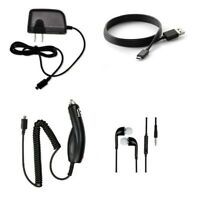 CAR CHARGER + WALL HOME CHARGER+MICRO USB+HEADSET FOR MetroPCS LG G STYLO