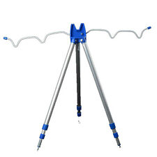 Portable Telescopic Fishing Rods Tripod Stand Rest for Sea/Beach/Shore/Pier