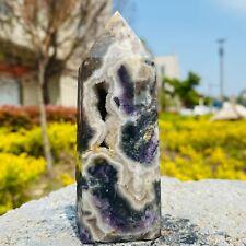 New listing Natural Sphalerite Crystal Obelisk Crystal cave Mine standard With fluorite 258G