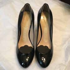 Joan And David Black Patent Leather Platform Closed Toe Heels - Size 8M