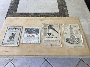 Meccano American Sales Brochures,circa 1910s.Interesting lot.