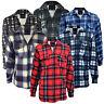 Men's Padded Work Shirts Quilted Fleece Lumberjack Shirt Top Coats Jackets M-XXL