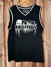 Metal Mulisha Mens Sleeveless Jersey Tank Size Large Black Gray Polyester