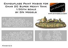 Camouflage Paint masks for Char 2C 1/35 Meng Models Super Heavy tank