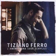 """TIZIANO FERRO """"L'AMORE E UNA COSA SEMPLICE""""  CD NEU"""