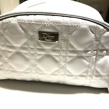 Dior White Quilted Make Up Bag