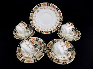 Susan - Vintage Shabby Chic 13 Piece Bell China Tea Set with Cake Plate