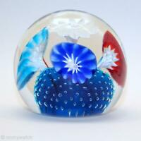FINE Vtg MURANO 🇮🇹 FRATELLi TOSO Art GLaSs Paperweight Floral FABULOUS COLOR