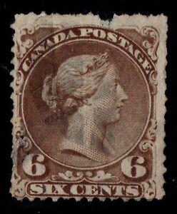 #27c Large Queen 6c Canada used
