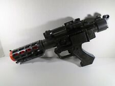 2004 HASBRO--STAR WARS--GENERAL GREVIOUS ELECTRONIC BLACK BLASTER GUN (LOOK)