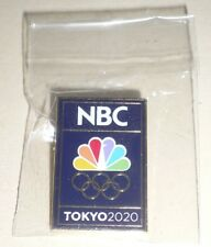 2020 Olympic Games Tokyo Japan OFFICIAL TOKYO 2020 NBC TV MEDIA LOGO PIN BADGE !