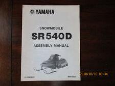 Yamaha Sr540D Snowmobile Assembly Manual