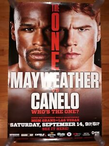 """FLOYD MAYWEATHER vs CANELO ALVAREZ FIGHT POSTER """"THE ONE"""" 2013 DISPLAY FROM MGM."""