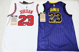 """Chicago Bulls #23 & Los Angeles Lakers #23 """"Legneds"""" Autographed 2 Jersey COA"""
