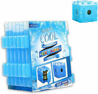 120 CUBE FLEXIBLE REUSABLE ICE COOLER FREEZER CUBES LUNCH BOX PICNIC BBQ CAMPING