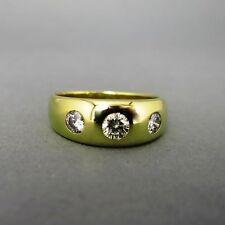 Reinheit VS Sehr gute Echtschmuck-Ringe im Band-Stil aus Gelbgold
