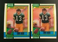1990 Topps #146 Chris Jacke Super Rookie Lot 2 Green Bay Packers