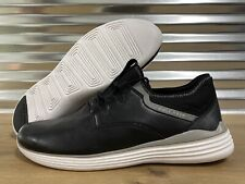 Cole Haan Grand Sport Sneaker Dress Shoes Black Leather White SZ ( C30422 )