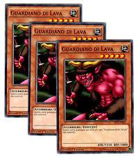 set 3X GUARDIANO DI LAVA SP15-IT003 comune in Italiano YUGIOH ARC-V