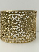 BNWOT STUNNING GOLD TONE METAL ADJUSTABLE FILIGREE CUFF/BANGLE/BRACELET
