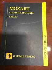 MOZART HENLE URTEXT STUDY EDITIONS