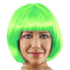 LADIES FACTORY WORKER GREEN WIG BOOK CHARACTER FANCY DRESS COSTUME ACCESSORY