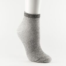 "New Women's Quarter Cut ""Charcoal"" Cotton-blend Socks 4 Pairs Size 9-11"