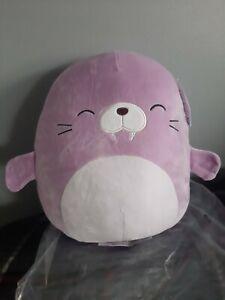 "Squishmallow Winnie The Walrus Purple 12"" Inch Kellytoy Soft Plush"