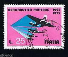 ITALIA 1 FRANCOBOLLO AERONAUTICA MILITARE 25 LIRE 1973 usato